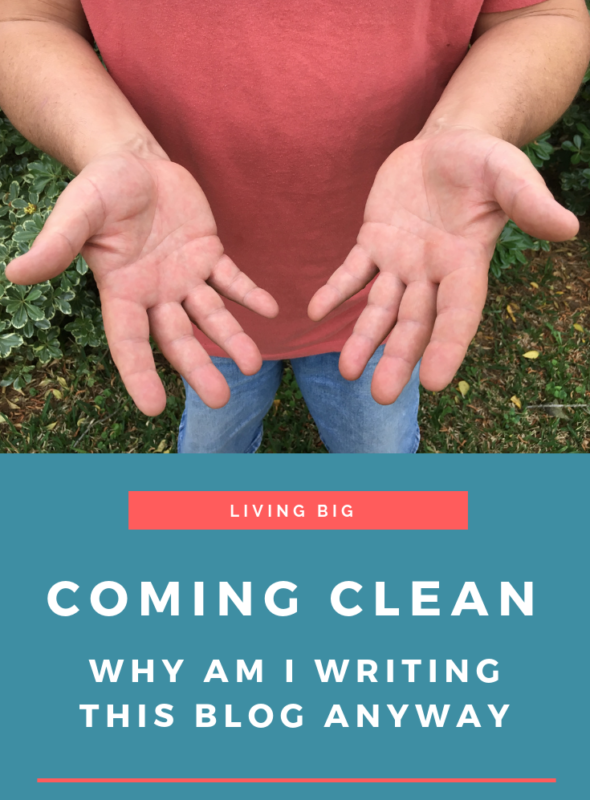 Coming Clean: Why Am I Writing This Blog Anyway?