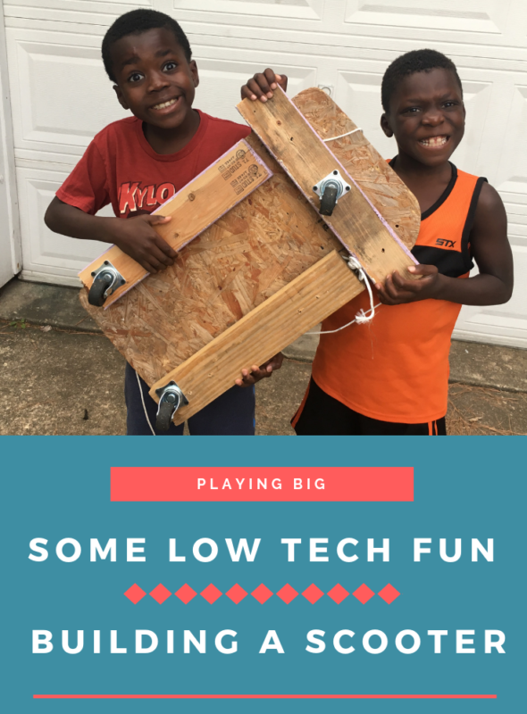 Some Low Tech Fun–Building a Scooter