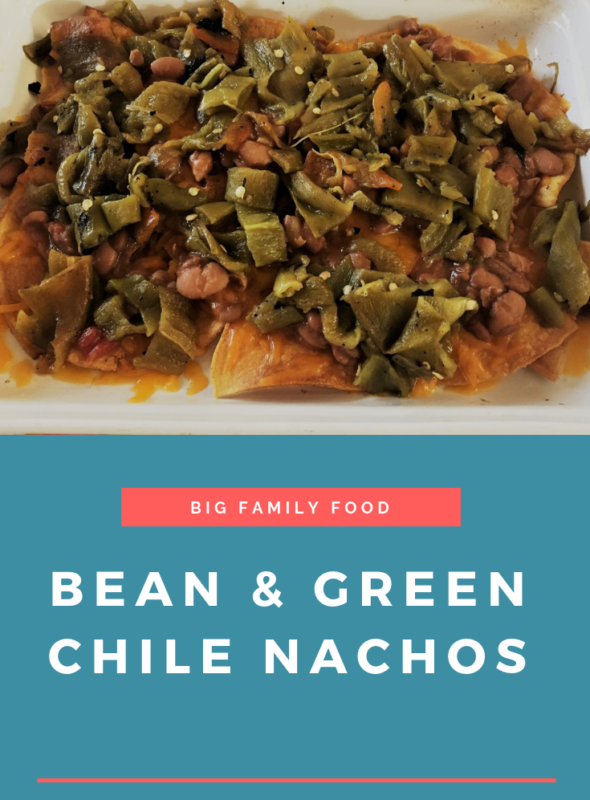 Bean & Green Chile Nachos