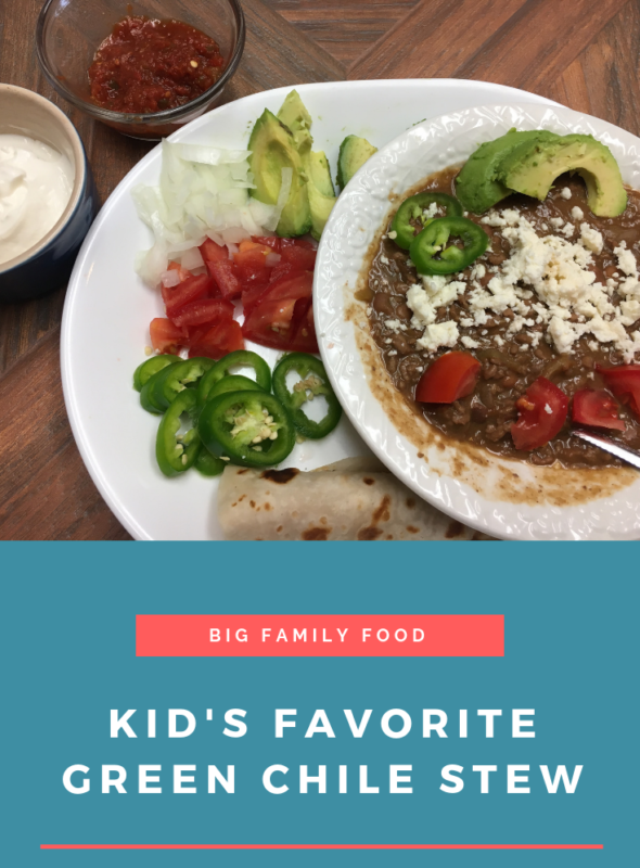Kid's Favorite Green Chile Stew