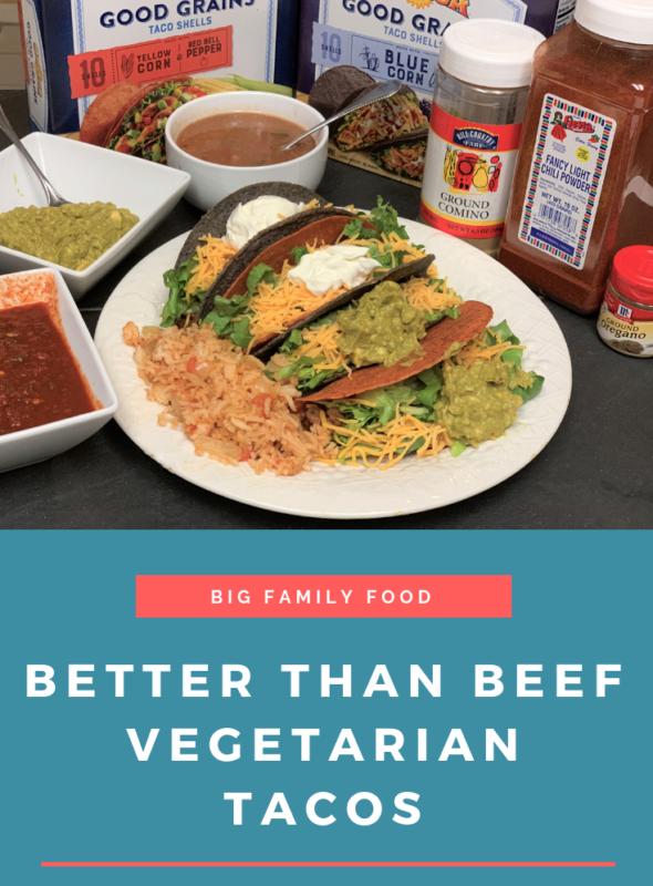 """""""Better Than Beef"""" Vegetarian Tacos"""